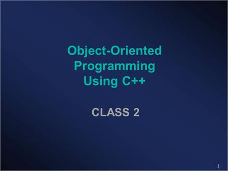1 Object-Oriented Programming Using C++ CLASS 2. 2 Linear Recursion Summing the Elements of an Array Recursively Algorithm LinearSum(A, n): Input: An.