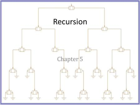 Recursion Chapter 5.