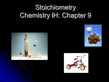 Stoichiometry Chemistry IH: Chapter 9 Stoichiometry The method of measuring amounts of substances and relating them to each other.
