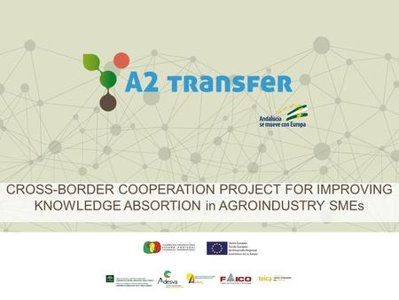 CROSS-BORDER COOPERATION PROJECT FOR IMPROVING KNOWLEDGE ABSORTION in AGROINDUSTRY SMEs.