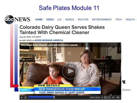 Safe Plates Module 11. Learning Objectives Identify sources of physical and chemical contamination Describe threats of deliberate contamination Discuss.