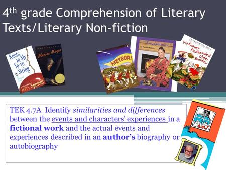 4th grade Comprehension of Literary Texts/Literary Non-fiction