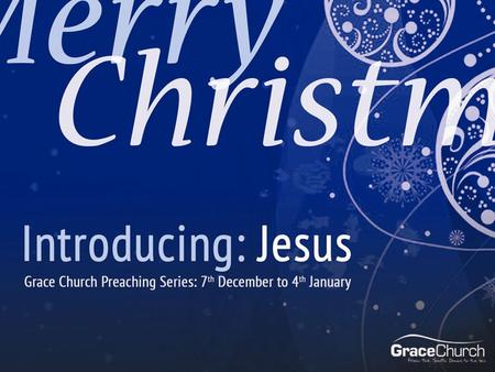 David Thompson 4 th January 2015 Introducing: Jesus Part 4: Light of the World Luke 2:22-35.