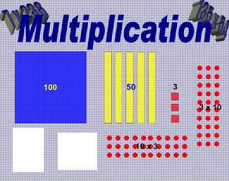 100 50 3 10 x 3 3 x 10. Using multiplication facts · It is vital that children know their times tables as all the work higher up the school relies on.