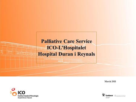 MICROARRAY GENE EXPRESSION ANALYSIS OF FATTY ACID SYNTHASE (FAS) Palliative Care Service ICO-L'Hospitalet Hospital Duran i Reynals March 2011.