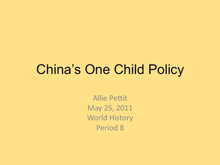 term paper on one child policy