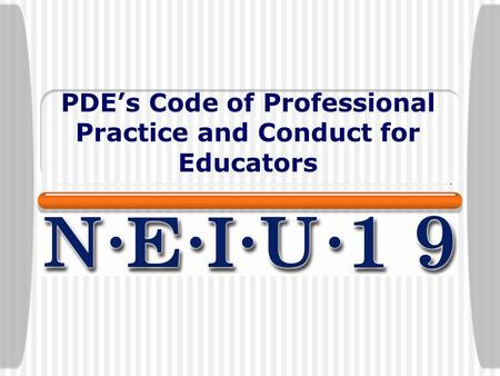 PDE's Code of Professional Practice and Conduct for Educators