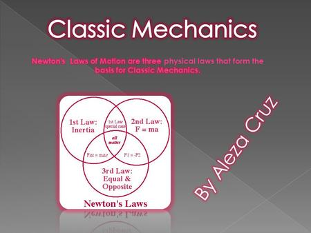 Understanding Newton's First Law of Motion The first law deals with forces and changes in velocity. For just a moment, let us imagine that you can apply.