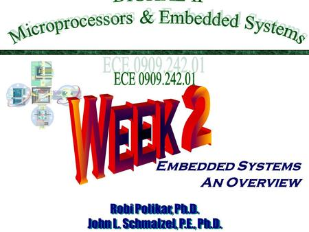 Embedded Systems An Overview. This Week in Dig 2  Embedded systems overview  What are they?  Design challenge – optimizing design metrics  What is.