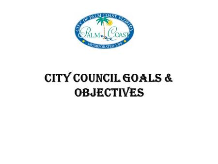 CITY COUNCIL GOALS & OBJECTIVES. TOP PRIORITY Street Valley Gutters 33 installed by Public Works 35 installed by contractor Pipe Replacement Program.