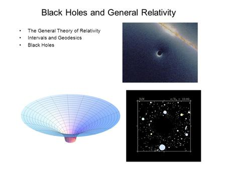 Black Holes and General Relativity