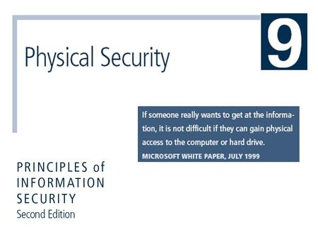 Principles of Information Security, 2nd Edition 2 Learning Objectives Upon completion of this material, you should be able to:  Understand the conceptual.