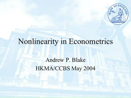 Nonlinearity in Econometrics