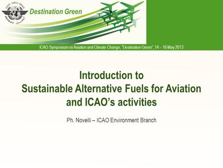 Ph. Novelli – ICAO Environment Branch