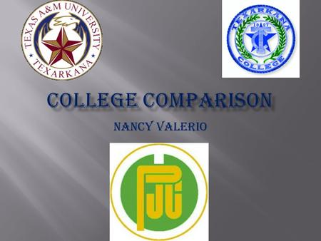 Nancy Valerio.  LOCATION: Texarkana Tx  ENROLLMENT: 6,125  PHYSICAL SIZE : 90 acre campus A 2 acre nature reserve.