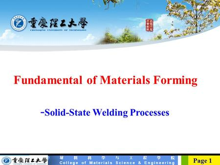 -Solid-State Welding Processes