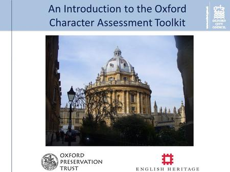 An Introduction to the Oxford Character Assessment Toolkit.