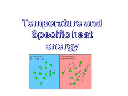 Thermal Energy A. Temperature & Heat 1. Temperature is related to the average kinetic energy of the particles in a substance.