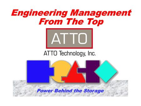 Engineering Management From The Top Power Behind the Storage.