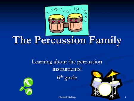 Learning about the percussion instruments! 6th grade