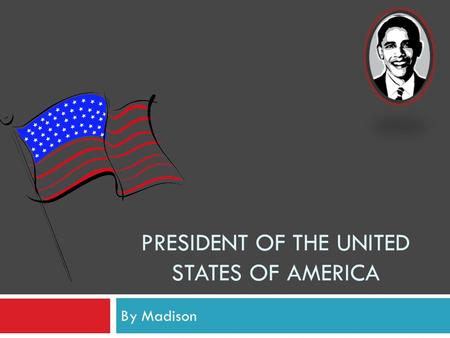 PRESIDENT OF THE UNITED STATES OF AMERICA By Madison.