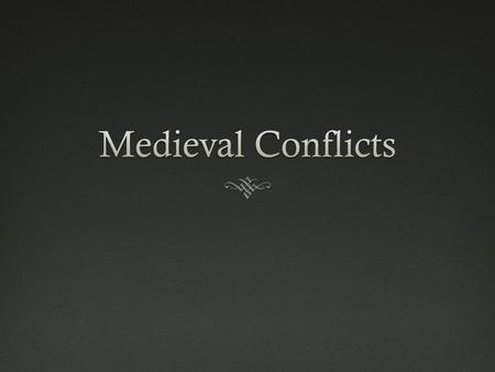 Types of ConflictTypes of Conflict  Ideological - based on a difference of ideas, beliefs, philosophies, or religion  Territorial - based on the desire.