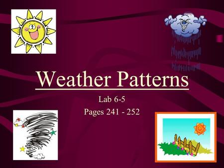 Weather Patterns Lab 6-5 Pages