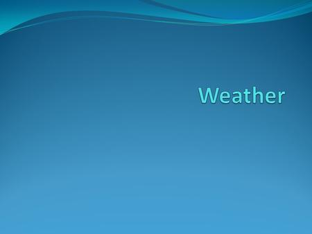 What is weather? Weather is a state of the atmosphere (troposphere) at a specific time and place, determined by factors including: Air pressure Humidity.