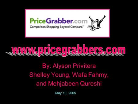 By: Alyson Privitera Shelley Young, Wafa Fahmy, and Mehjabeen Qureshi May 10, 2005.