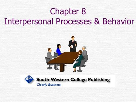 Chapter 8 Interpersonal Processes & Behavior. I didn't say that I didn't say it. I said that I didn't say that I said it. I want to make that very clear.