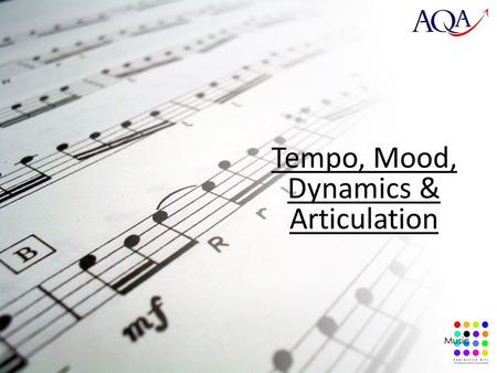 Tempo, Mood, Dynamics & Articulation