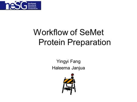 Workflow of SeMet Protein Preparation Yingyi Fang Haleema Janjua.