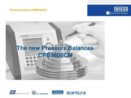Pressure balance CPB3800CN 1 The new Pressure Balances CPB3800CN.