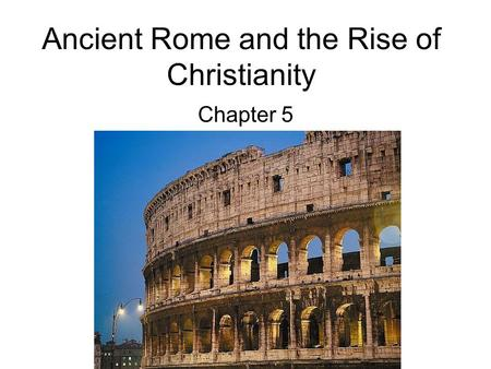 Rome and Christianity Essay Sample