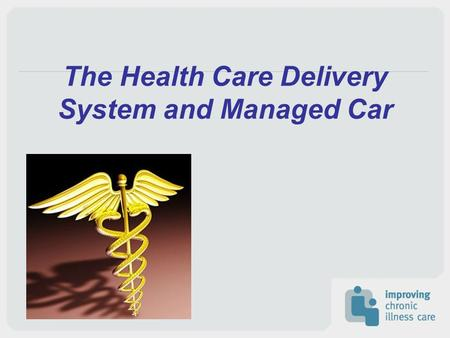 The Health Care Delivery System and Managed Car. Health of Populations and Individuals Delivery system exists within communities Many other stakeholders.