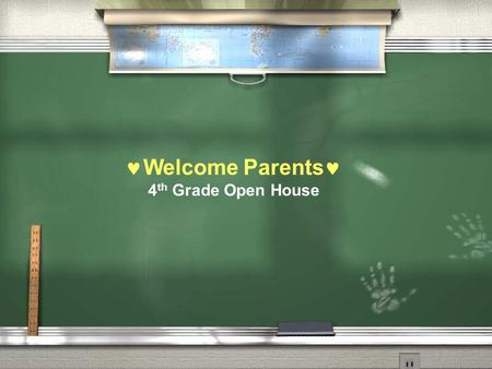 Welcome Parents 4 th Grade Open House. Classroom Environment We hope to create an environment for our students that is:  Safe  Loving  Nurturing 