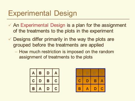 Fixed vs random effects ppt download for How to plan and design an experiment