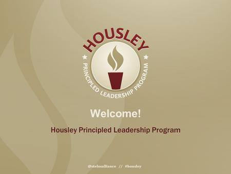Housley Principled Leadership Program // #housley.