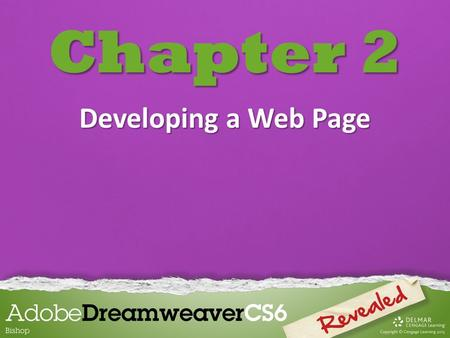 Chapter 2 Developing a Web Page. Chapter 2 Lessons Introduction 1.Create head content and set page properties 2.Create, import, and format text 3.Add.
