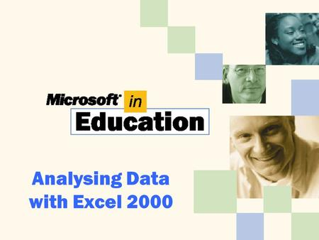 Analysing Data with Excel 2000. Importing Data from a Text File To import data from a text file: 1.Start Excel. 2.Click File, click New, click Workbook,