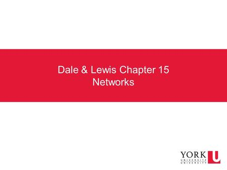 Dale & Lewis Chapter 15 Networks. What is a computer network? A collection of computing devices that are connected in various ways in order to communicate.