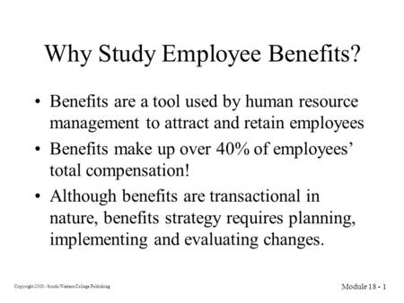 Human Resources - Benefits