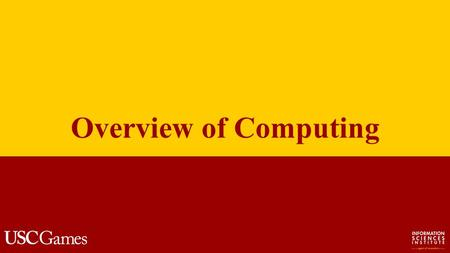Overview of Computing. Computer Science What is computer science? The systematic study of computing systems and computation. Contains theories for understanding.