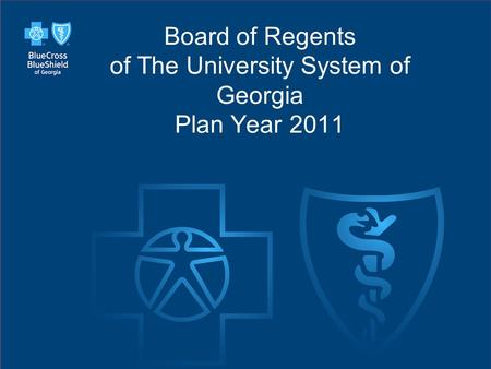 Slide 41 Board of Regents of The University System of Georgia Plan Year 2011.