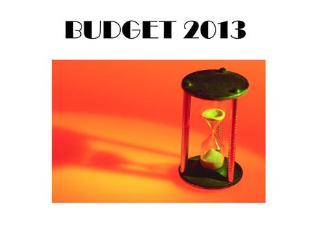BUDGET 2013. Budget Cuts over the last 4 years from Loss of Revenue Personnel$1,122,600.00 Operations$1,224,500.00 Capital Projects$1,367,400.00.