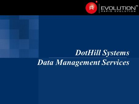 DotHill Systems Data Management Services. Page 2 Agenda Why protect your data?  Causes of data loss  Hardware data protection  DMS data protection.