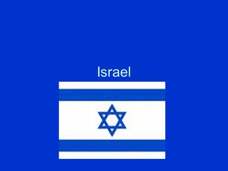 Israel. Palestine- Name for the geographic region between the Mediterranean Sea and the Jordan River 1947- the U.N. voted to divide the area known as.