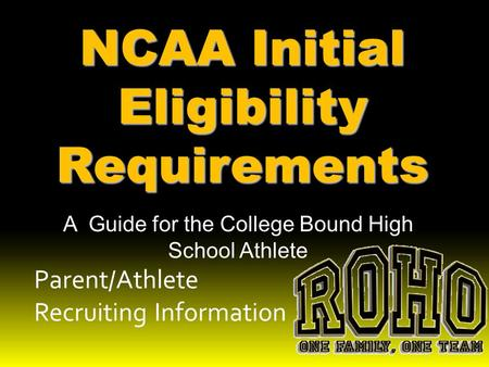 eligibility requirements to be a college athletes Naia colleges provide 65000 student-athletes with opportunities to play sports in  this spring and enroll in college this coming fall, the requirements are simple.