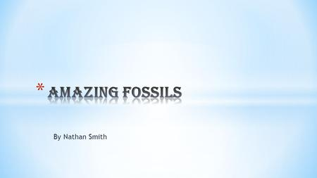 By Nathan Smith. * We have been reading about fossil hunters and searching for fossils. These are some of the things we have learned.