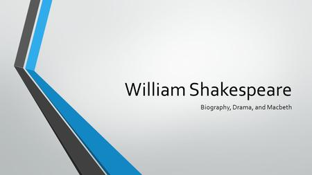 William Shakespeare Biography, Drama, and Macbeth.